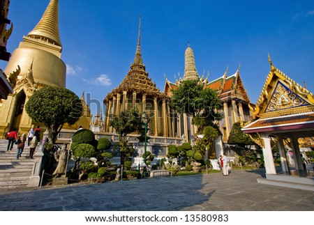 "Thailand - Bangkok - Temple - ""Wat Pho"" - stock photo"