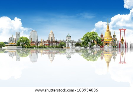 Thailand bangkok travel background concept - stock photo