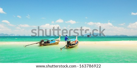 Thailand beach, Koh Phi Phi Island - stock photo