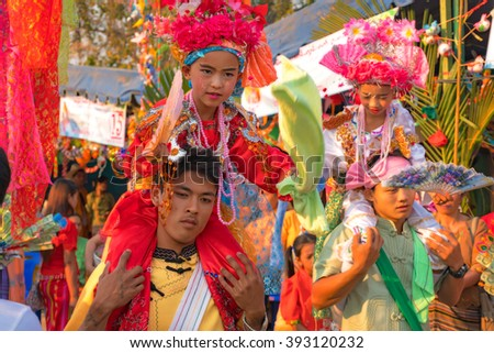 Thailand Chiang Mai 19 Mar 2016 : The Poy Sang Long is a three-day celebration of Buddhist novice ordination which usually takes place in late March or early April of every year in the Thailand.