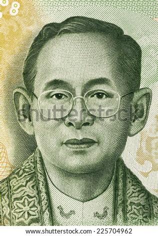 THAILAND - CIRCA 2013: King Rama IX (born 1927) on 20 Baht 2013 Banknote from Thailand. King of Thailand. - stock photo