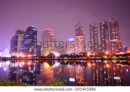 Thailand city night scape