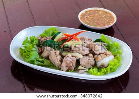 Thailand colorful, delicious food  - stock photo