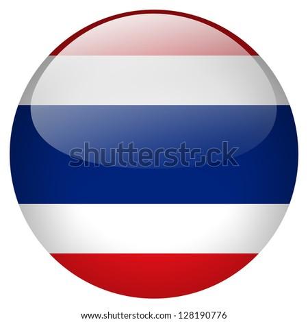 Thailand flag button - stock photo