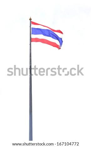 Thailand flag on white background - stock photo