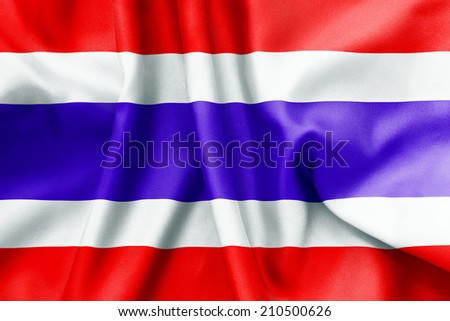 Thailand flag texture crumpled up