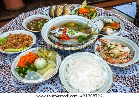 Thailand food style - stock photo