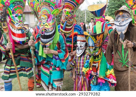 Thailand June 27: Phitakhon festival Phitakhon masks and dance to show festival on june 27 ,2015 in loei province of thailand