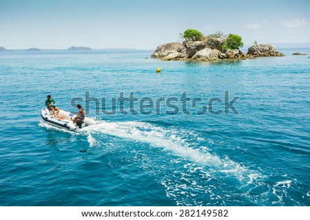 Thailand. Koh Chang. March 30, 2015. National Park Mu Ko Chang, established in 1982, is one of the main reserves of Thailand. It includes part of the island of Koh Chang and 45 islands (600 km2) - stock photo