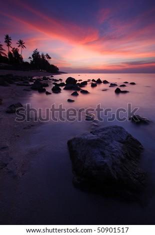 Thailand, Koh Samui Island sunset - stock photo