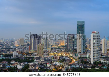 Thailand Landscape : Bangkok downtown at sunset