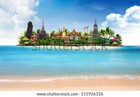 Thailand ocean landscape, concept - stock photo