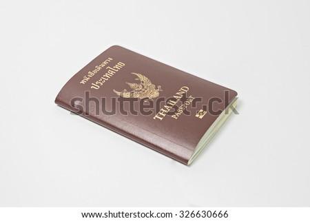 Thailand passport - stock photo