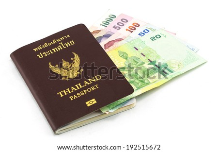 Thailand Passport and Thailand Banknotes