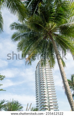Thailand Pattaya City View - stock photo