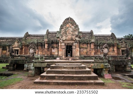 Thailand Phanom Rung historical park - stock photo