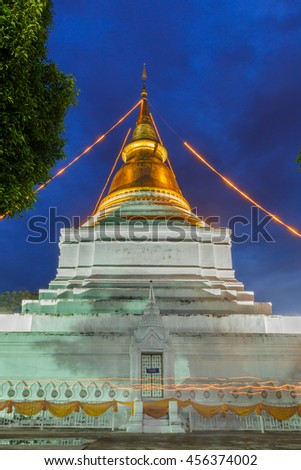 """Thailand Temple""""Wat Phra Kaew Don Tao"""" Lampang, Thailand The temple has a history of over 500 years. - stock photo"""