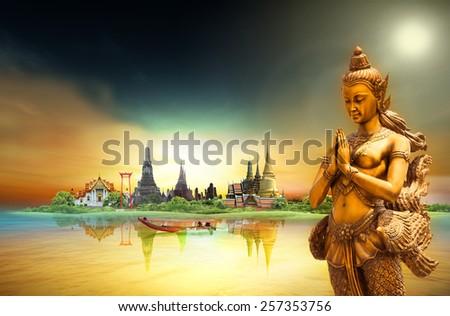 Thailand travel - stock photo