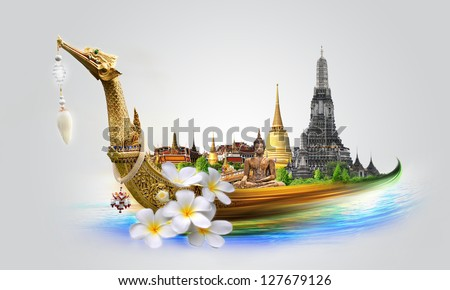 Thailand travel concept - stock photo