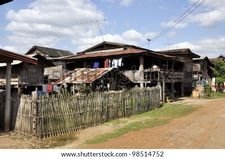 Thailand Village Local Country House Outdoor - stock photo