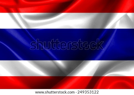 Thailand waving flag - stock photo