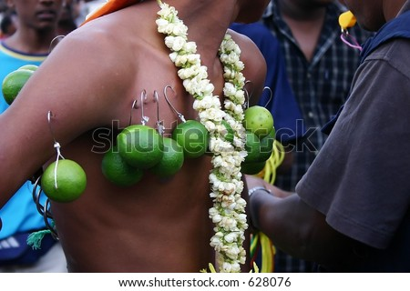 Thaipusam Devotees Walk - stock photo