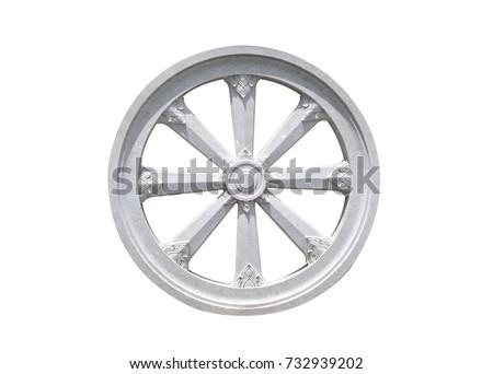 Thammachak Stone Wheel Karma Symbol Buddhism Stock Photo Safe To