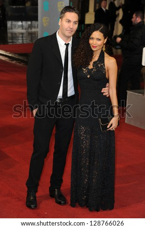 Thandie Newton and Ol Parker arriving for the EE BAFTA Film Awards 2013 at the Royal Opera House, Covent Garden, London. 10/02/2013 Picture by: Steve Vas