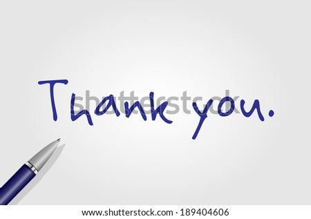 Thank you. - stock photo