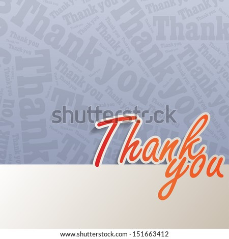 Thank you background with space for your text (Raster) - stock photo