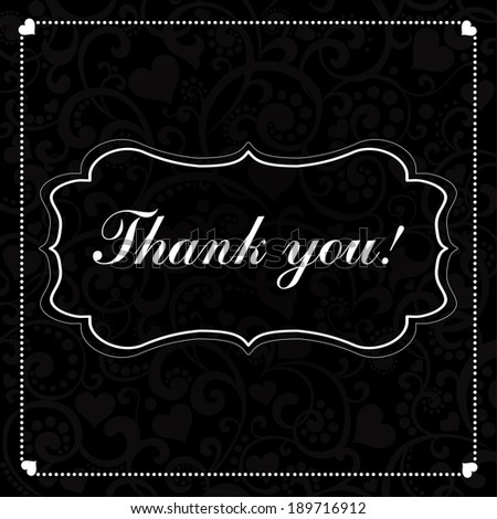 Thank you! Beautiful card. Illustration  - stock photo