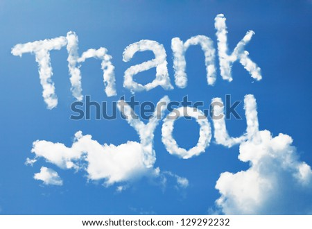 Thank you cloud word stock photo edit now 129292232 shutterstock thank you cloud word thecheapjerseys Choice Image