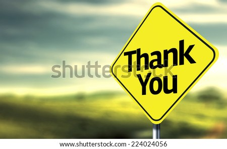 Thank You creative Sign - stock photo