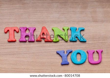 Thank you message on the background - stock photo