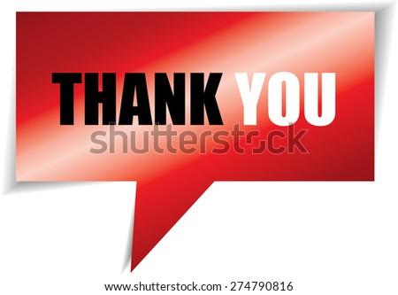 Thank you Modern Design Red Speech bubbles. - stock photo