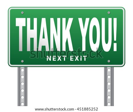 Thank you sign, many thanks for the support 3D illustration, isolated, on white