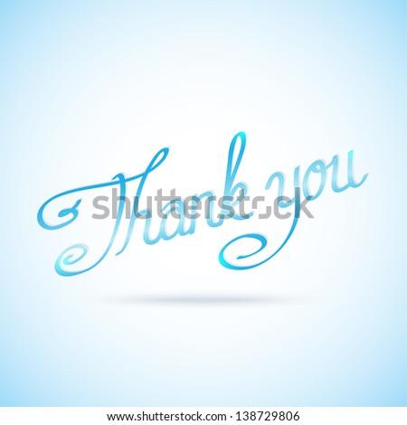 thank you vector calligraphic inscription - stock photo