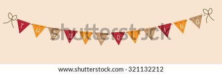 Thanksgiving Banner - stock photo