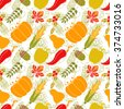 Thanksgiving Day colorful seamless pattern. Autumn repeatable background - stock vector
