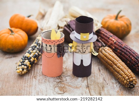 Thanksgiving decoration - stock photo