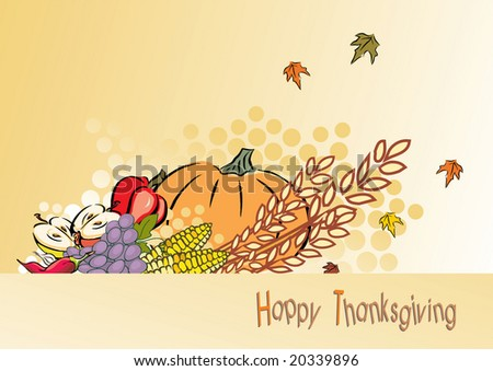 thanksgiving foliage or greeting card, illustration