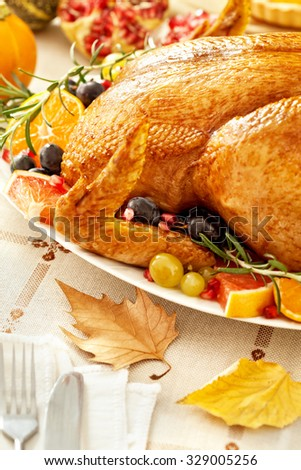 Thanksgiving Turkey  - stock photo