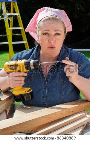 That thing's really sharp! - stock photo
