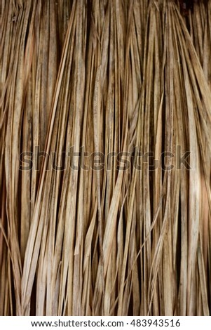 Thatch roof background. hay or dry grass background.