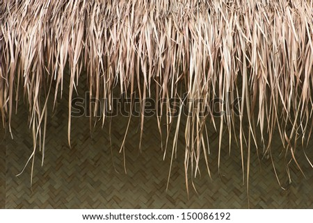 Thatched roof. - stock photo