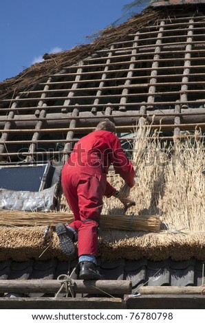 Thatched roof - stock photo