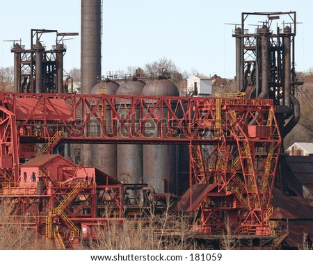 The abandoned Carrie Works blast furnace. - stock photo