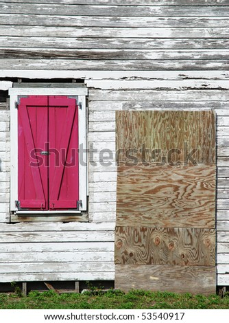 The abandoned wooden house in Key West town (Florida). - stock photo