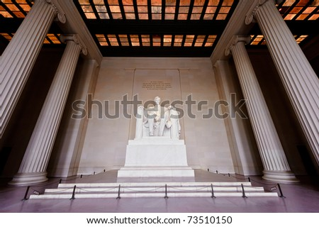 The Abraham Lincoln Memorial Historic Shrine in Washington D.C.