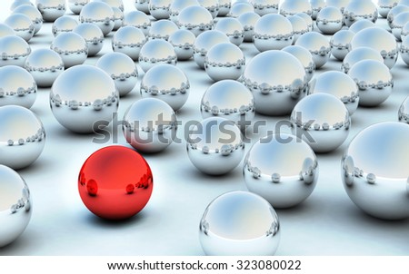 The Abstract background made of Metallic 3D bearing balls - stock photo